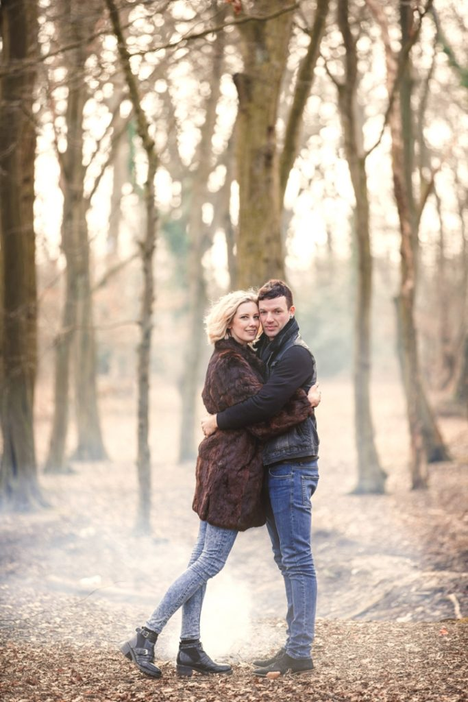 Claire & Roy London engagement shoot in Fairlop