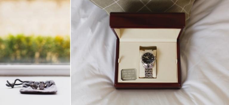 oxfordshire wedding photography groom cufflinks