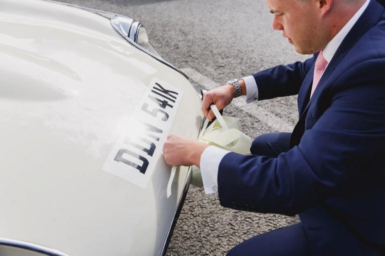 oxfordshire wedding photography wedding car decoration