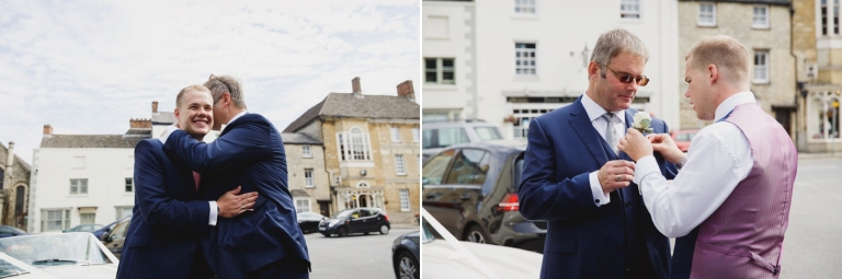 oxfordshire wedding photography groom and father