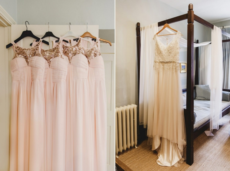 oxfordshire wedding photography bride and bridesmaids dresses