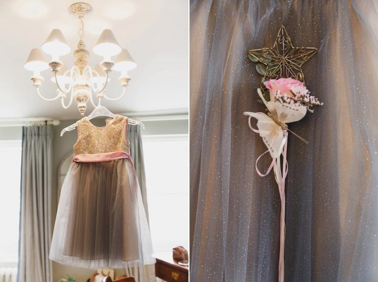oxfordshire wedding photography flower girl dress