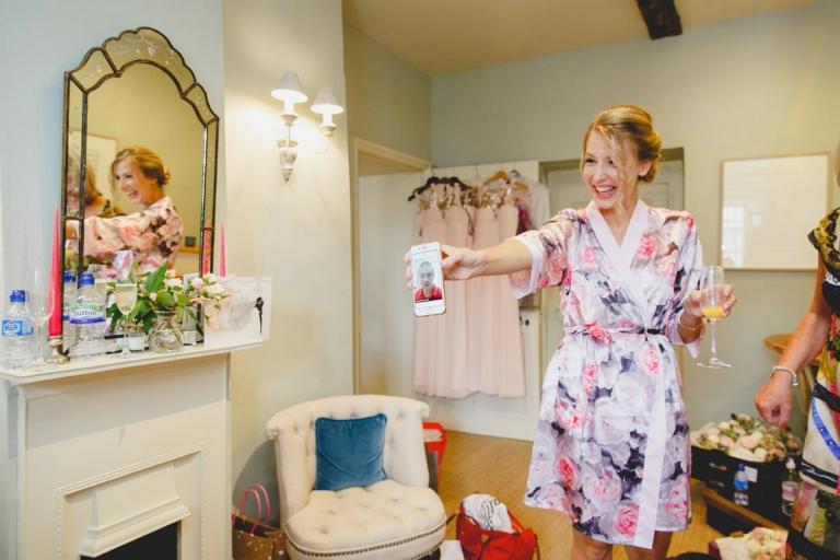 oxfordshire wedding photography bridesmaid laughing