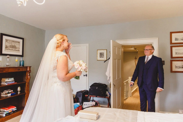 oxfordshire wedding photography bride and her father