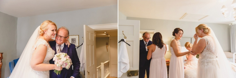 oxfordshire wedding photography father of the bride