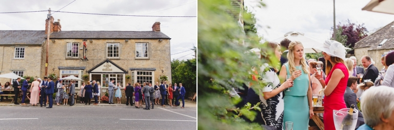 oxfordshire wedding photography guests at our