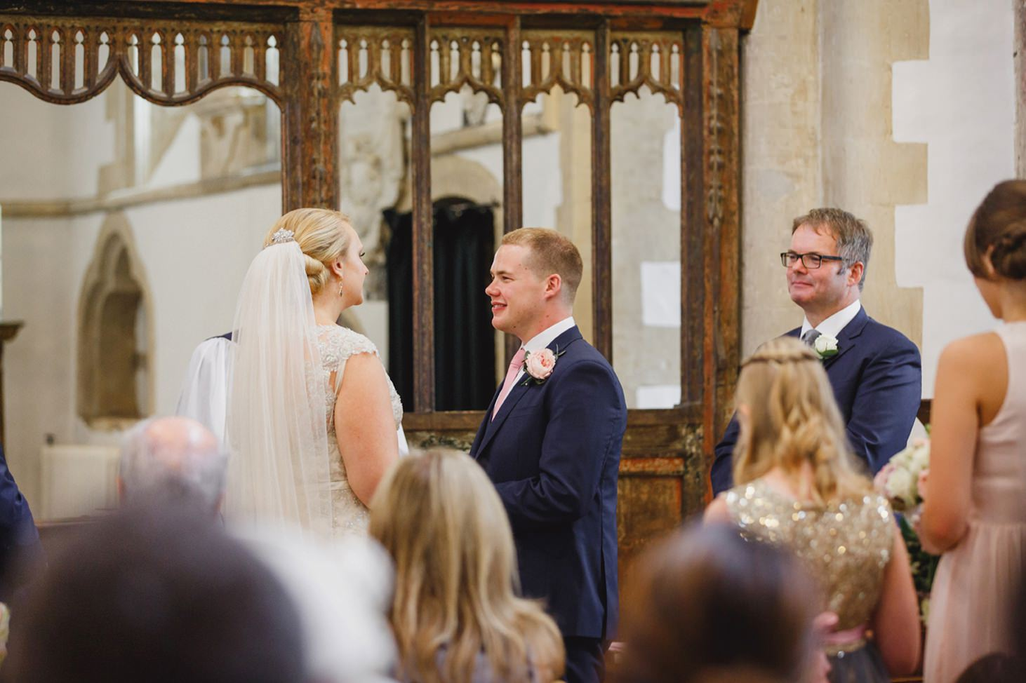 oxfordshire wedding photography bride and groom wedding ceremony
