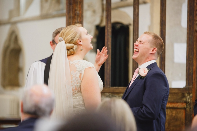oxfordshire wedding photography bride and groom laughing