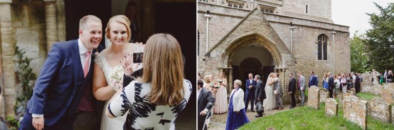 oxfordshire wedding photography greeting line