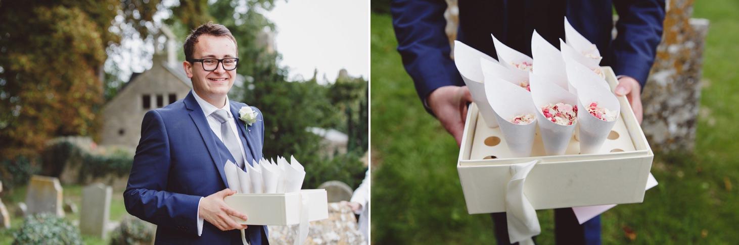 oxfordshire wedding photography confetti