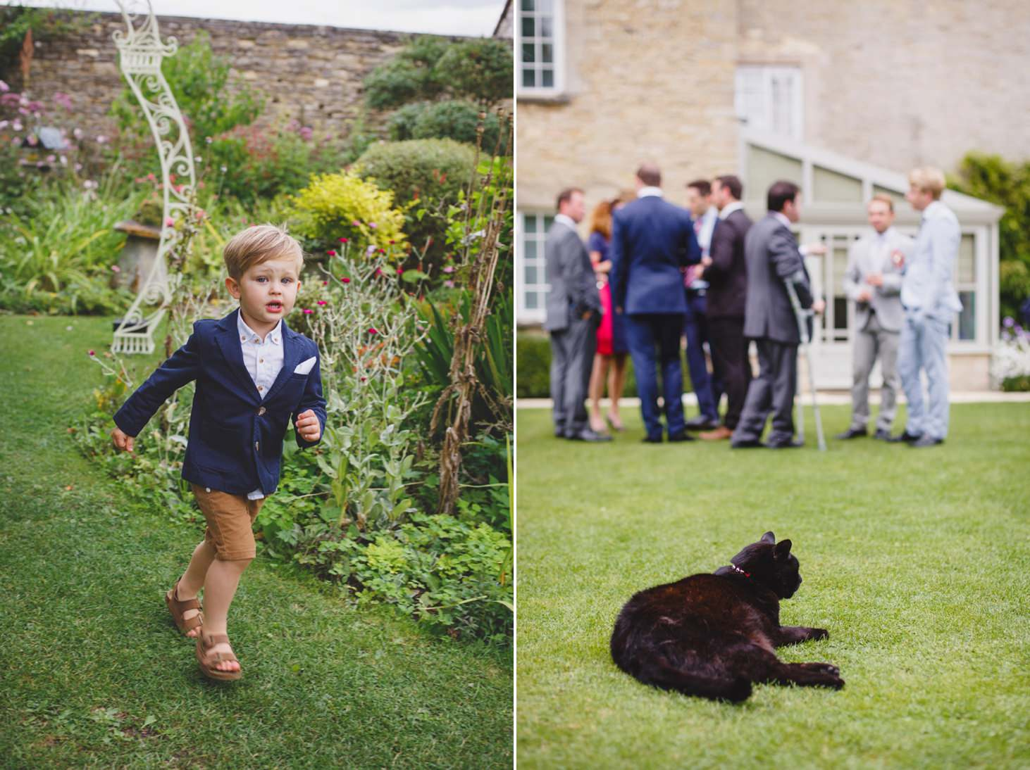 oxfordshire wedding photography wedding guests and cat