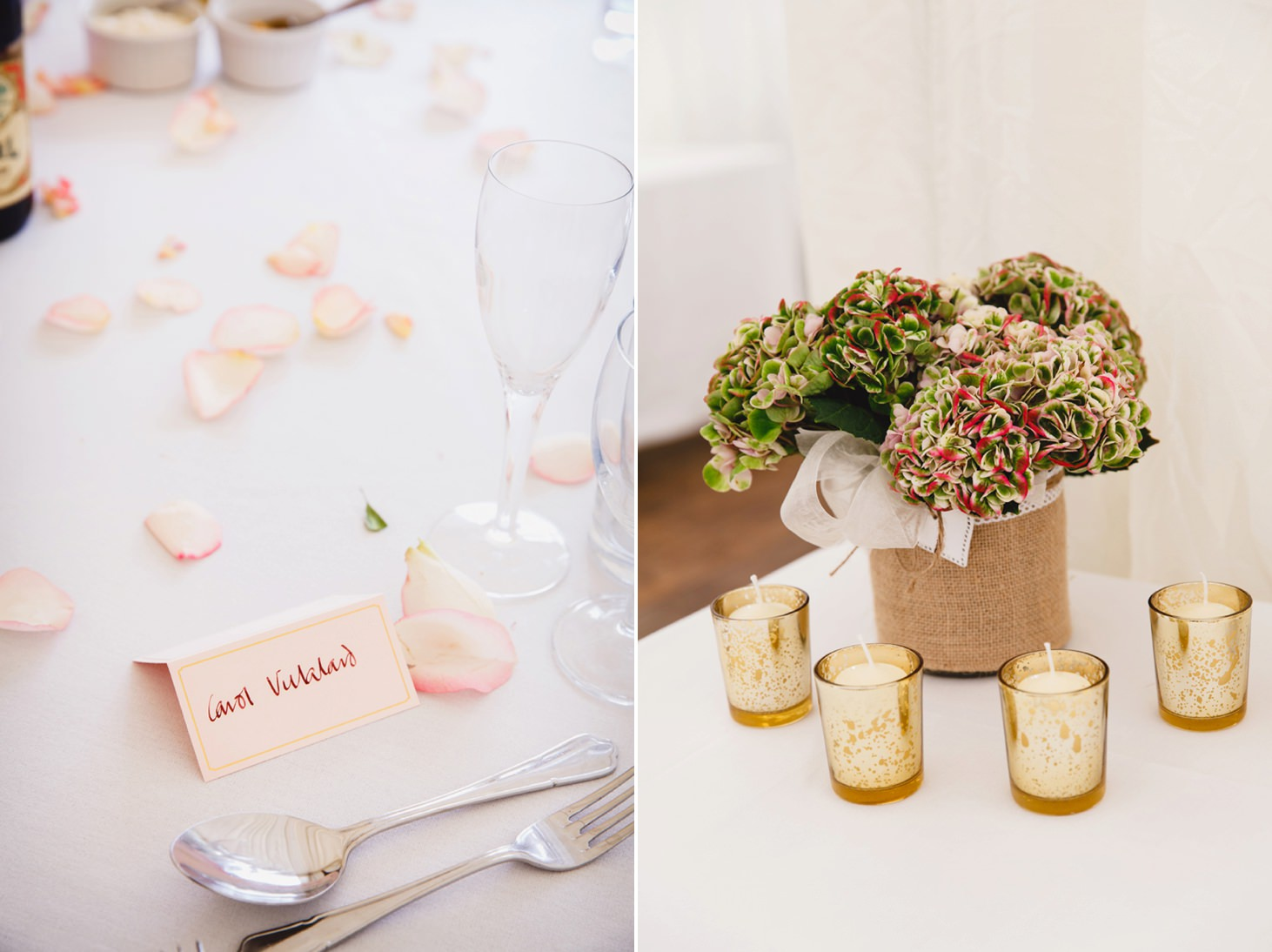 oxfordshire wedding photography table details