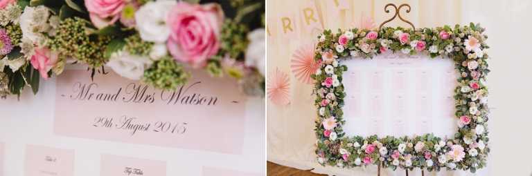 oxfordshire wedding photography table plan