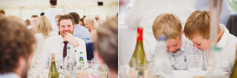 oxfordshire wedding photography wedding guests during breakfast