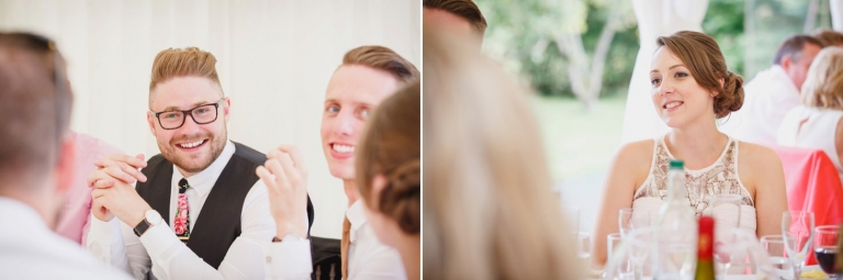 oxfordshire wedding photography guests laughing