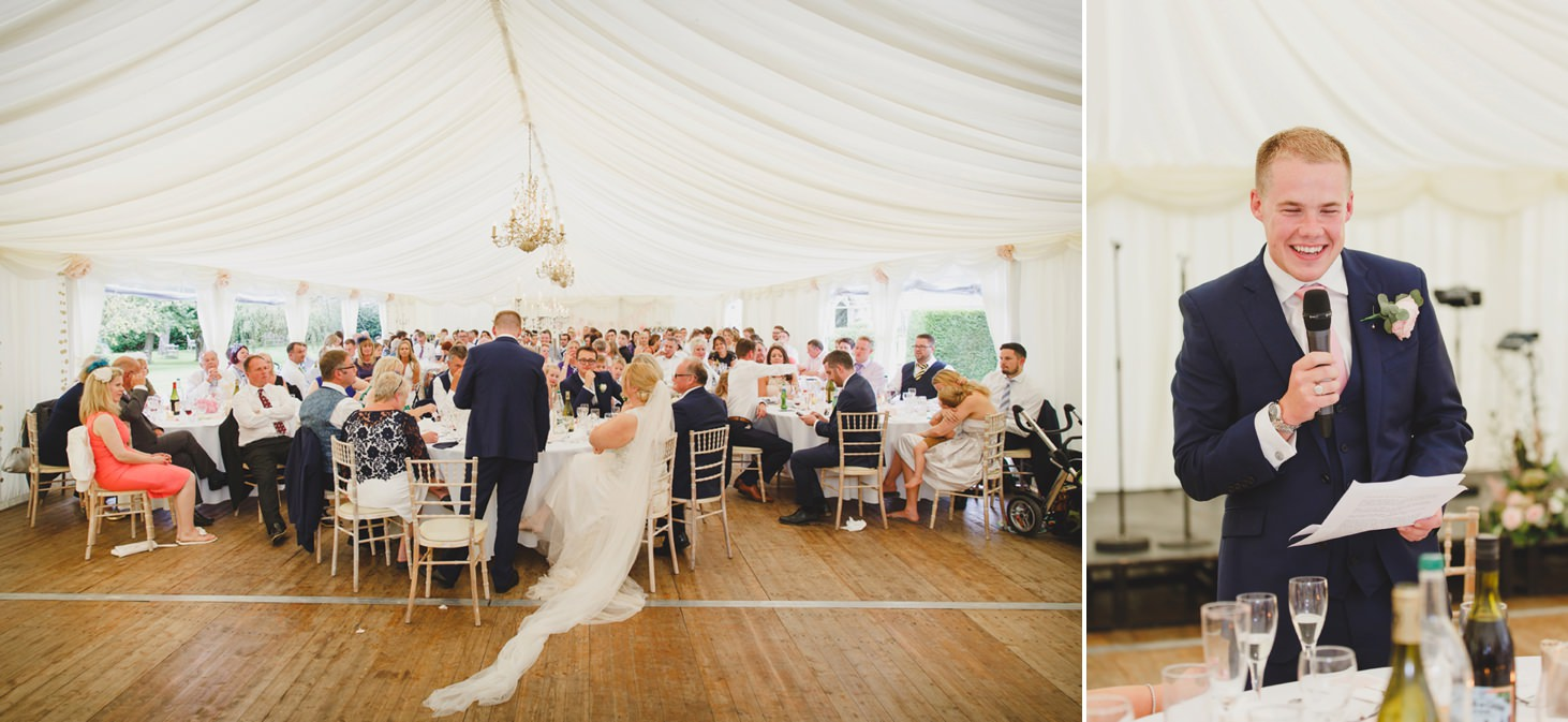 oxfordshire wedding photography groom speech