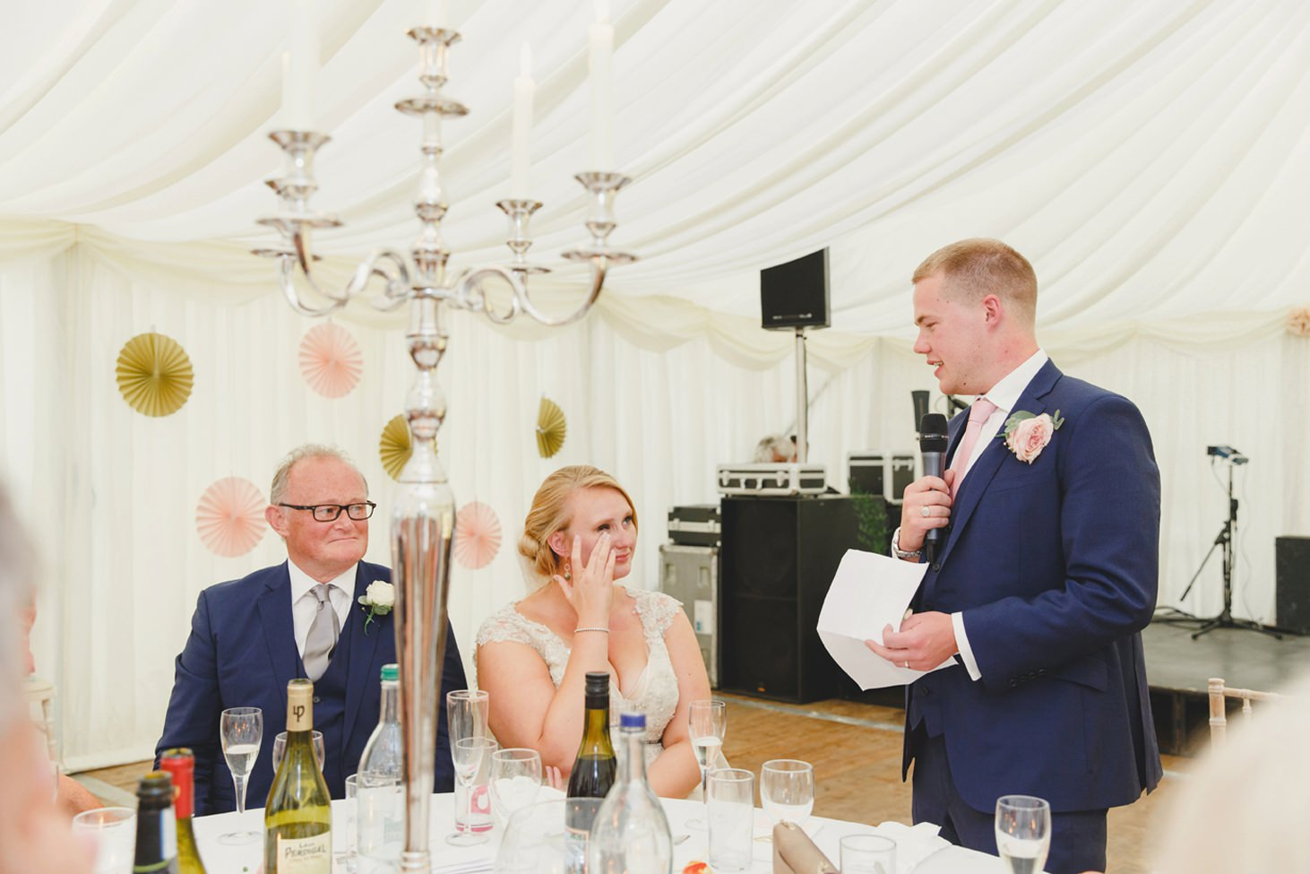 oxfordshire wedding photography grooms speech to bride