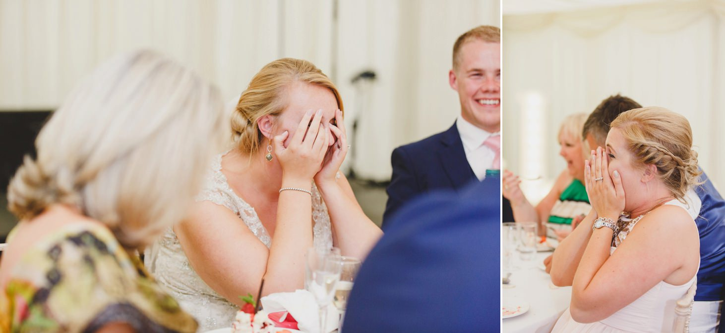 oxfordshire wedding photography bride and groom reaction