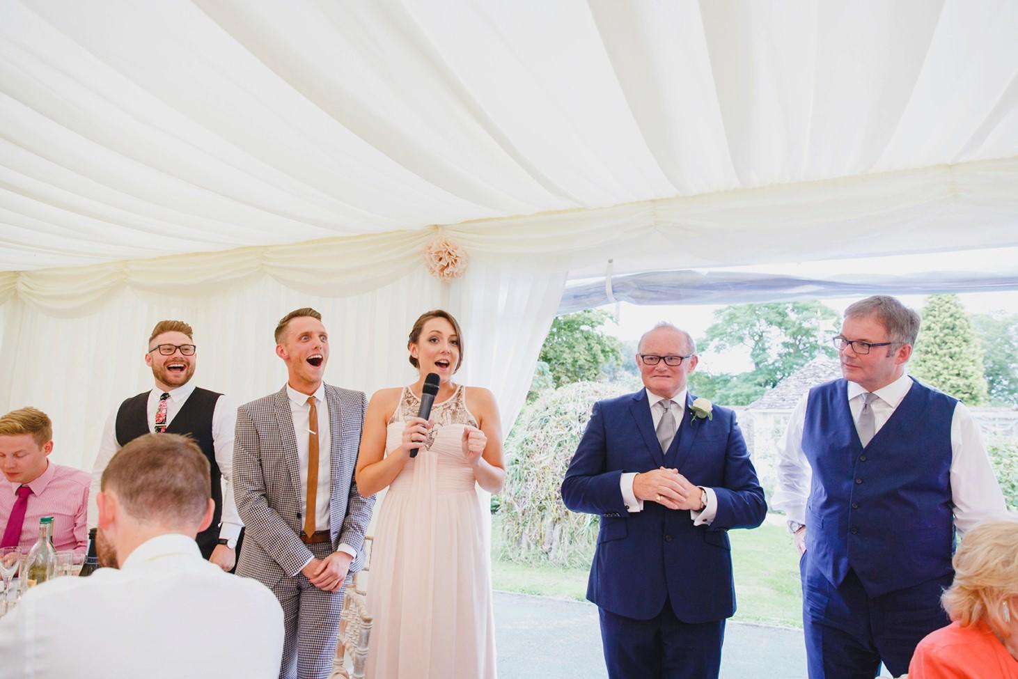 oxfordshire wedding photography bridesmaid speech