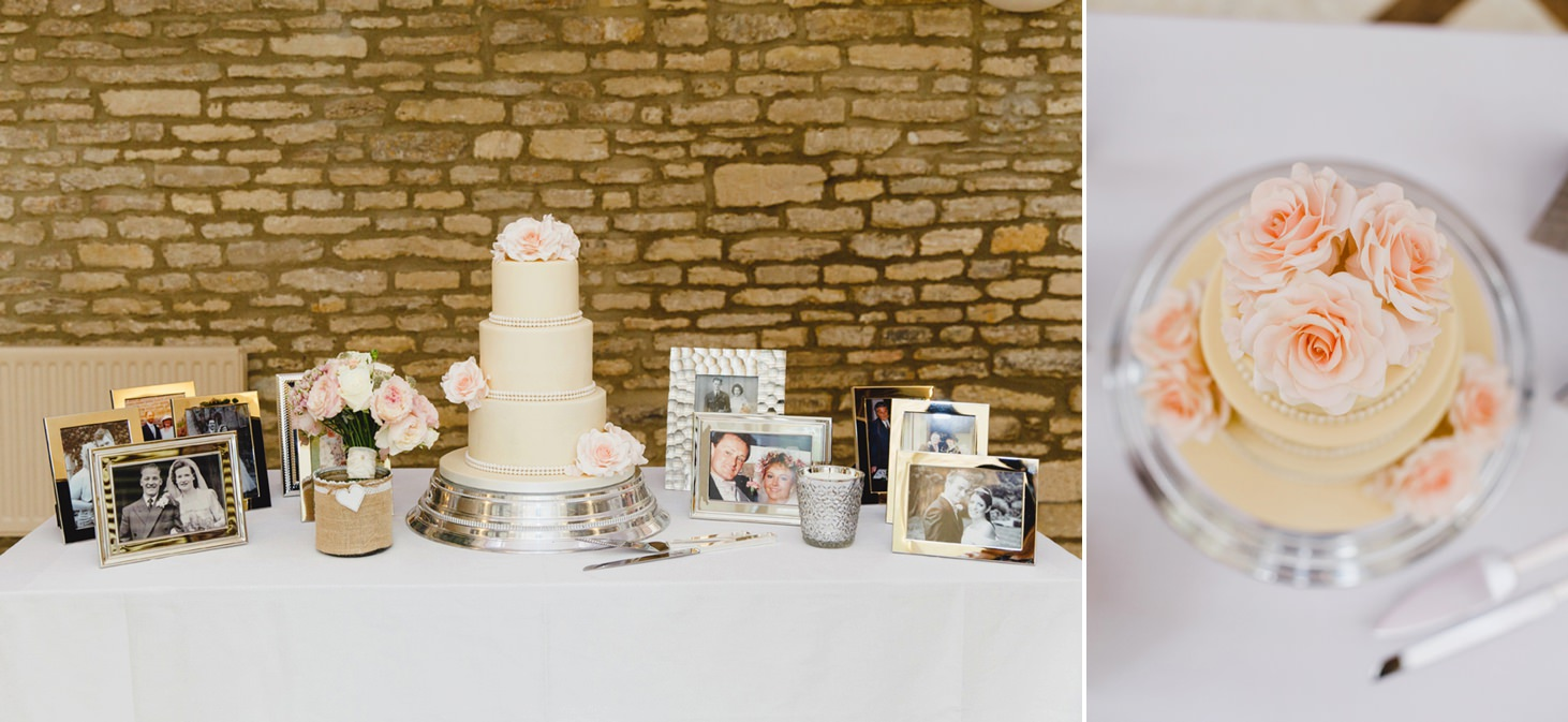 oxfordshire wedding photography wedding cake table
