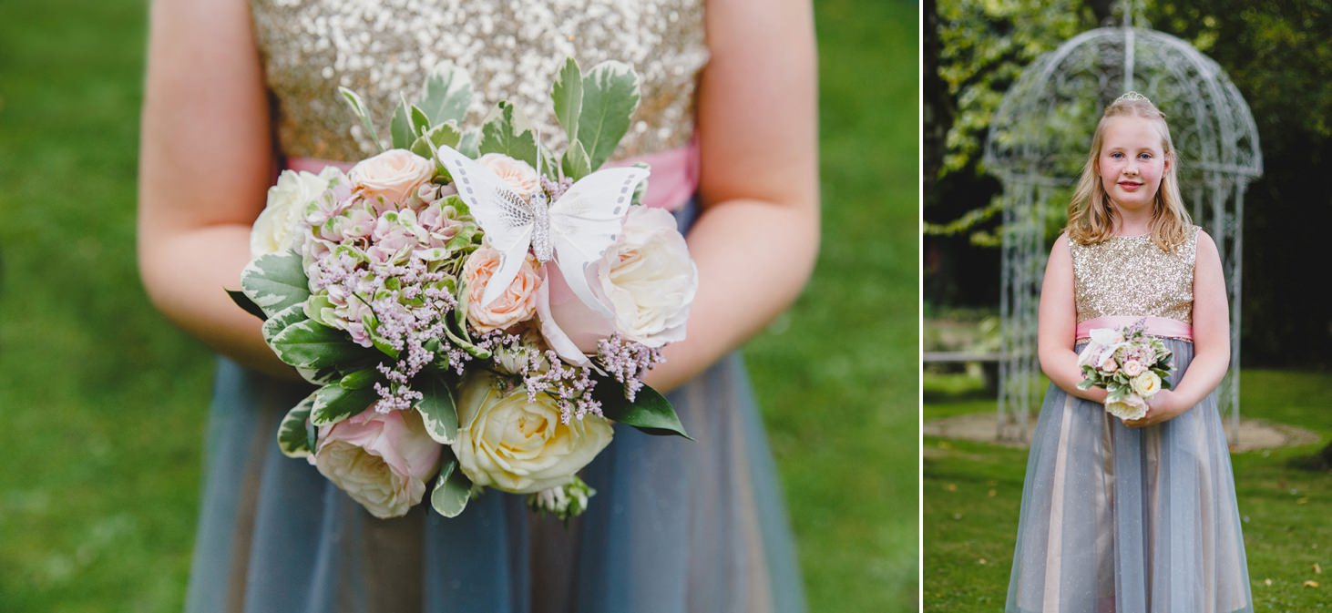 oxfordshire wedding photography flower girl portrait