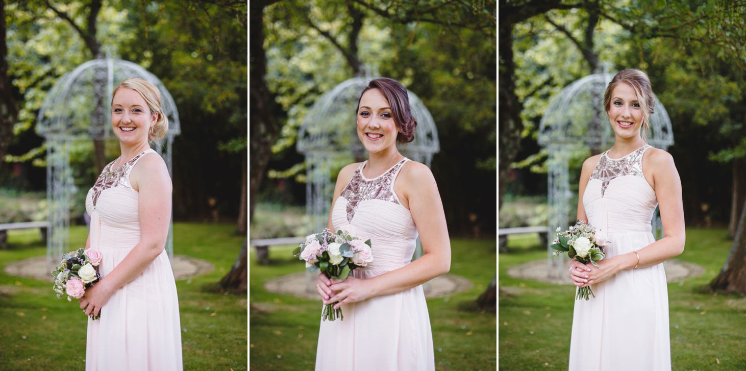 oxfordshire wedding photography portraits if bridesmaids
