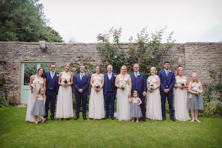 oxfordshire wedding photography bridesmaids and groomsmen
