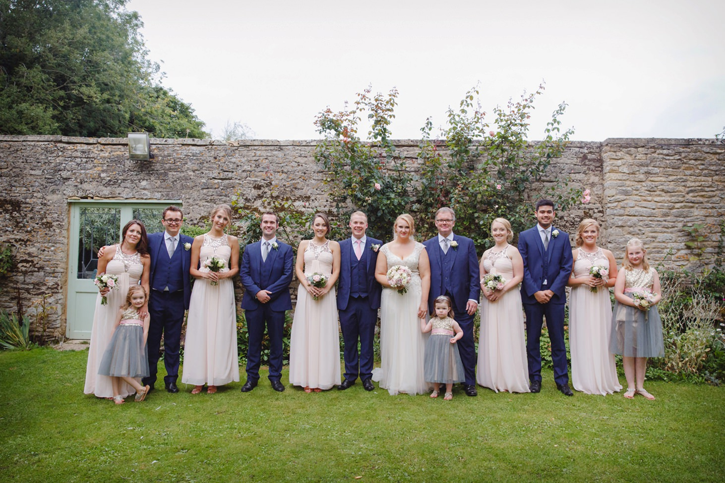 oxfordshire wedding photography bridesmaids and groomsmen