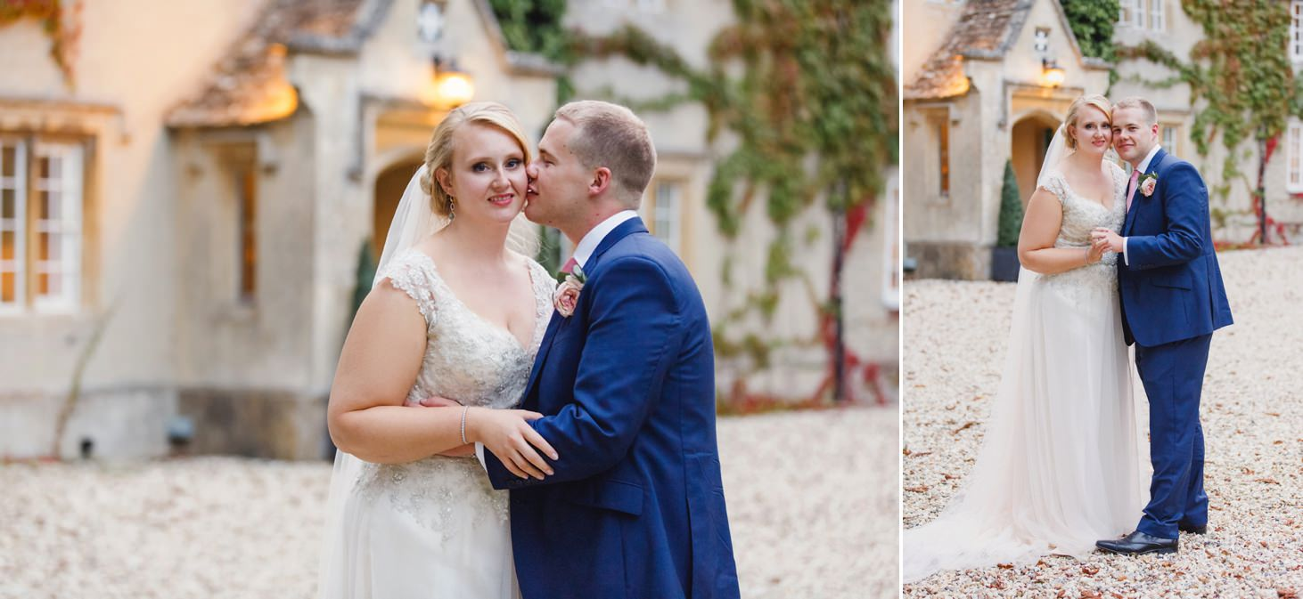 oxfordshire wedding photography groom kissing bride