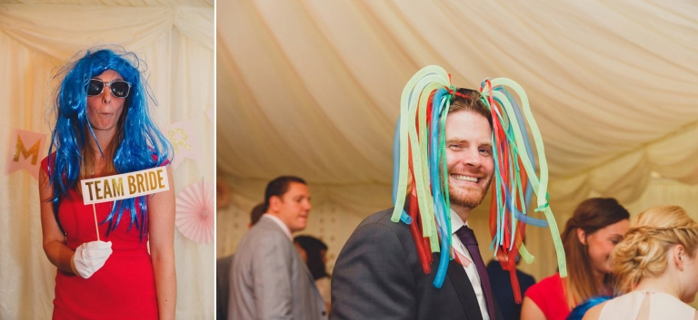 oxfordshire wedding photography guests in wigs
