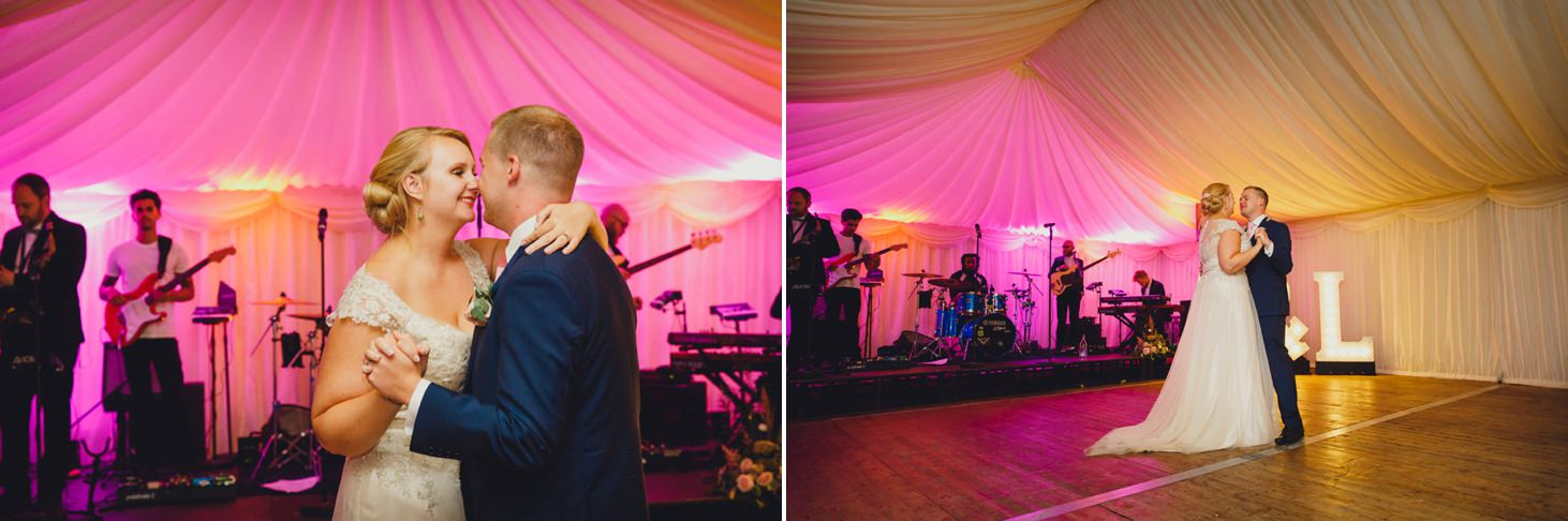 oxfordshire wedding photography bride and groom dance