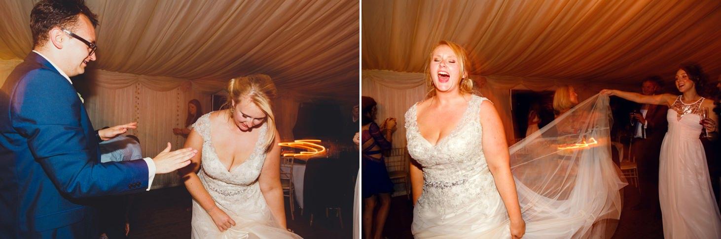 oxfordshire wedding photography bride dancing