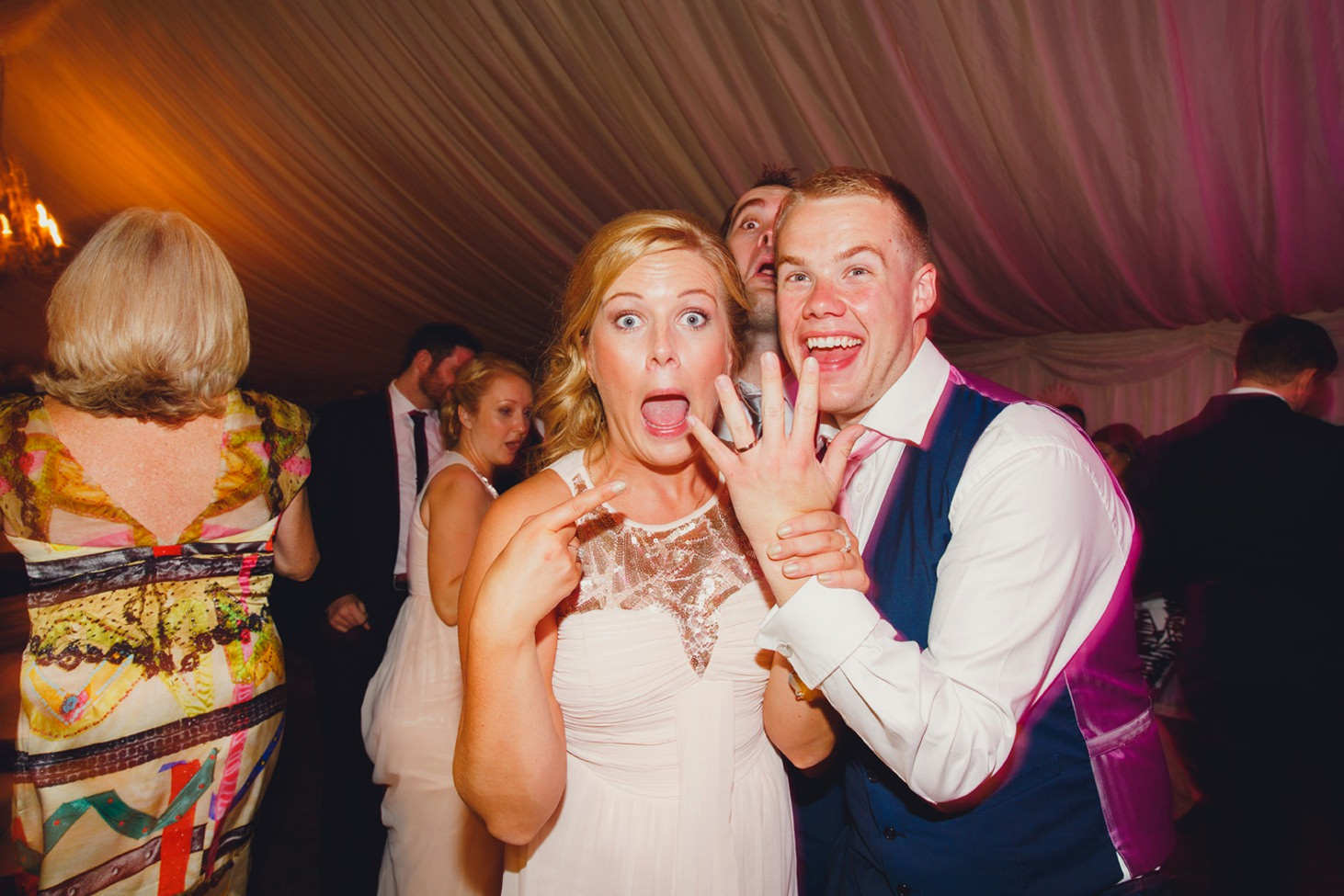 oxfordshire wedding photography groom in fun portrait