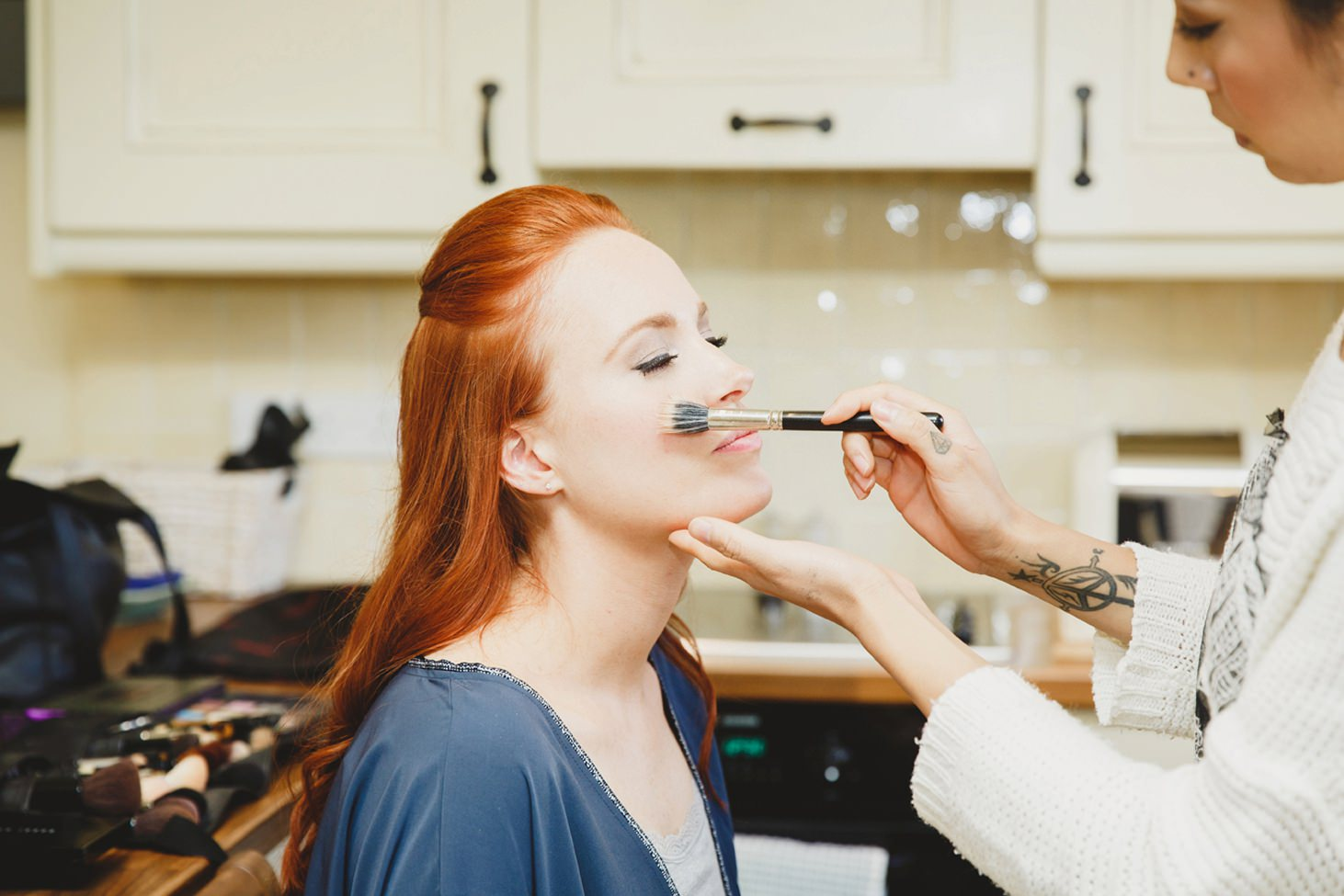 Caswell house wedding photography bride getting ready