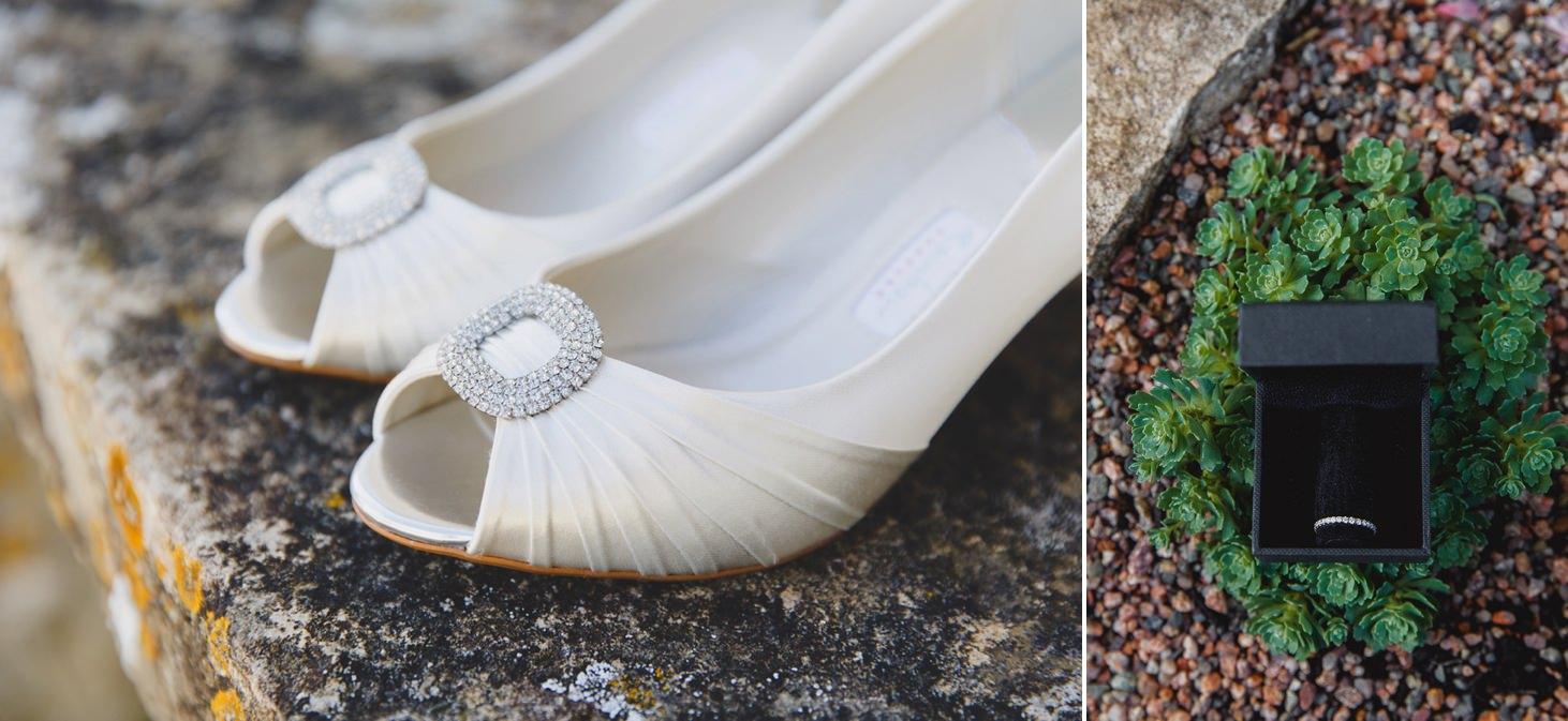 Caswell House wedding photography wedding shoes