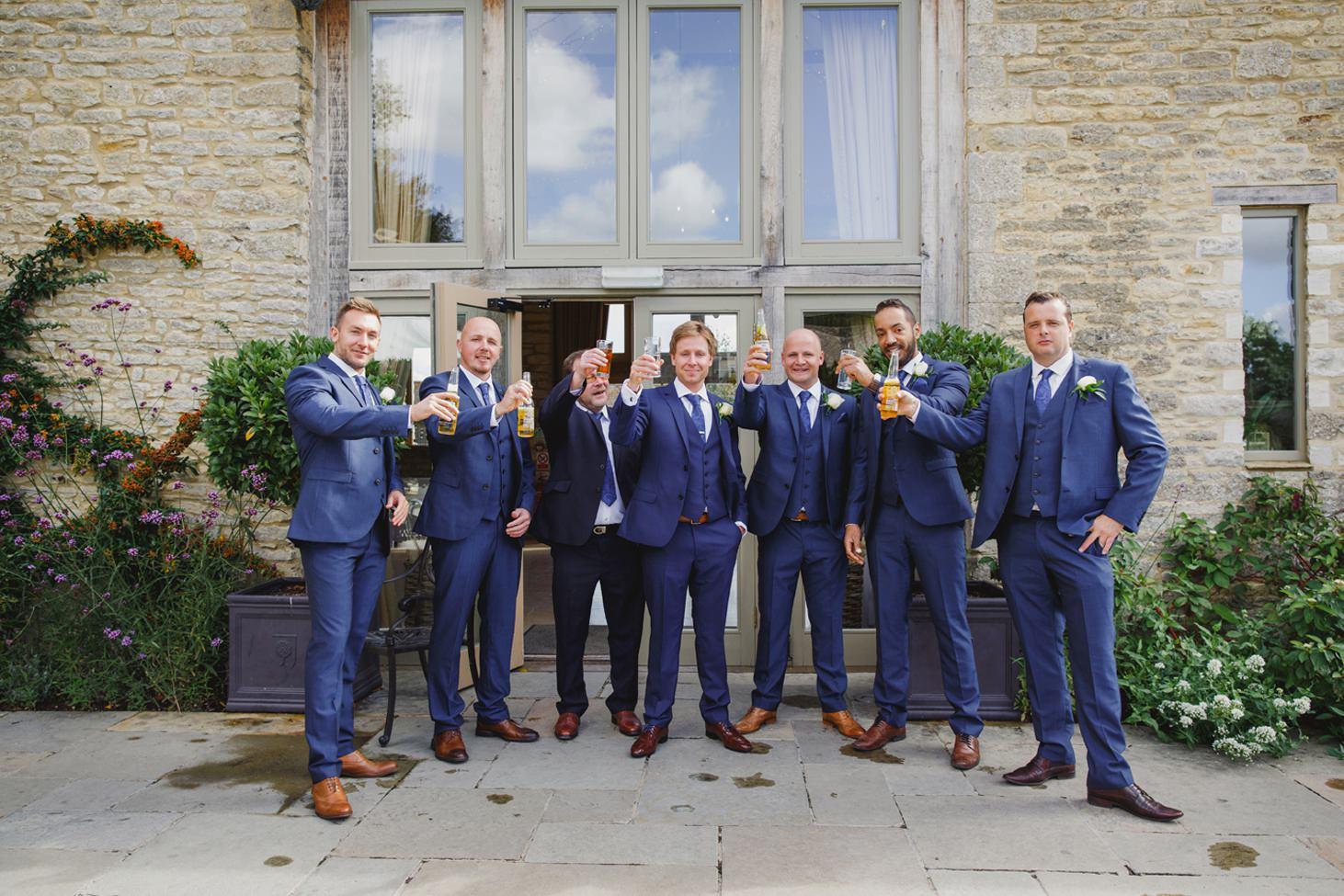 Caswell House wedding photography groomsmen