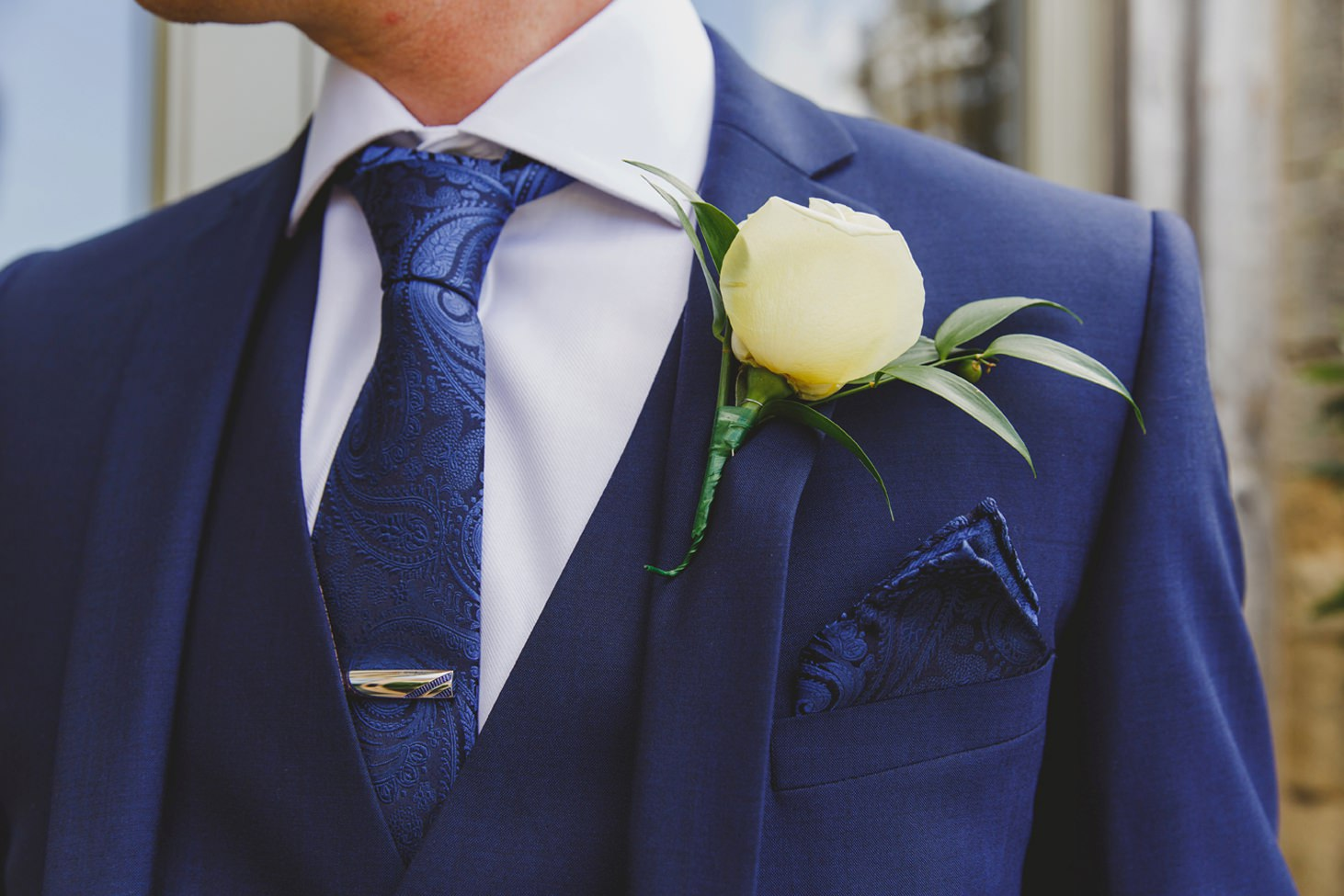 Caswell House wedding photography buttonhole