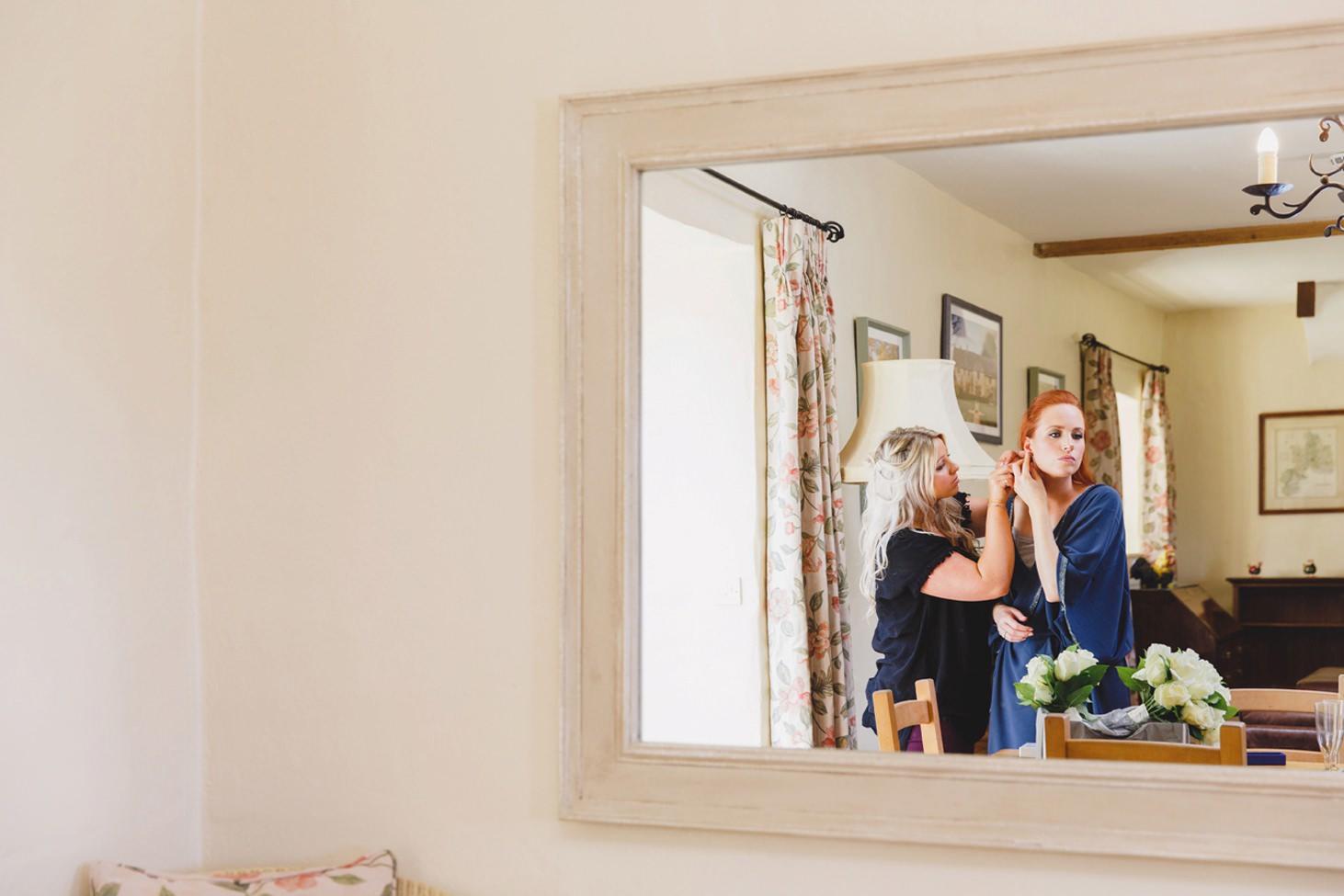 Caswell House wedding photography bride prep