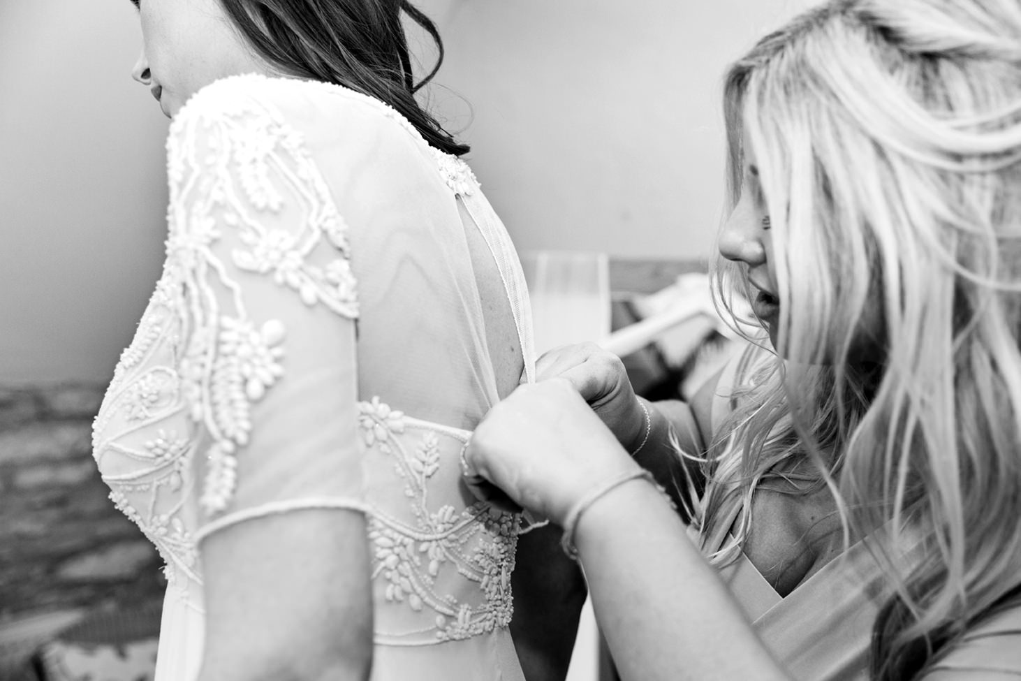 Caswell House wedding photography brides dress detail