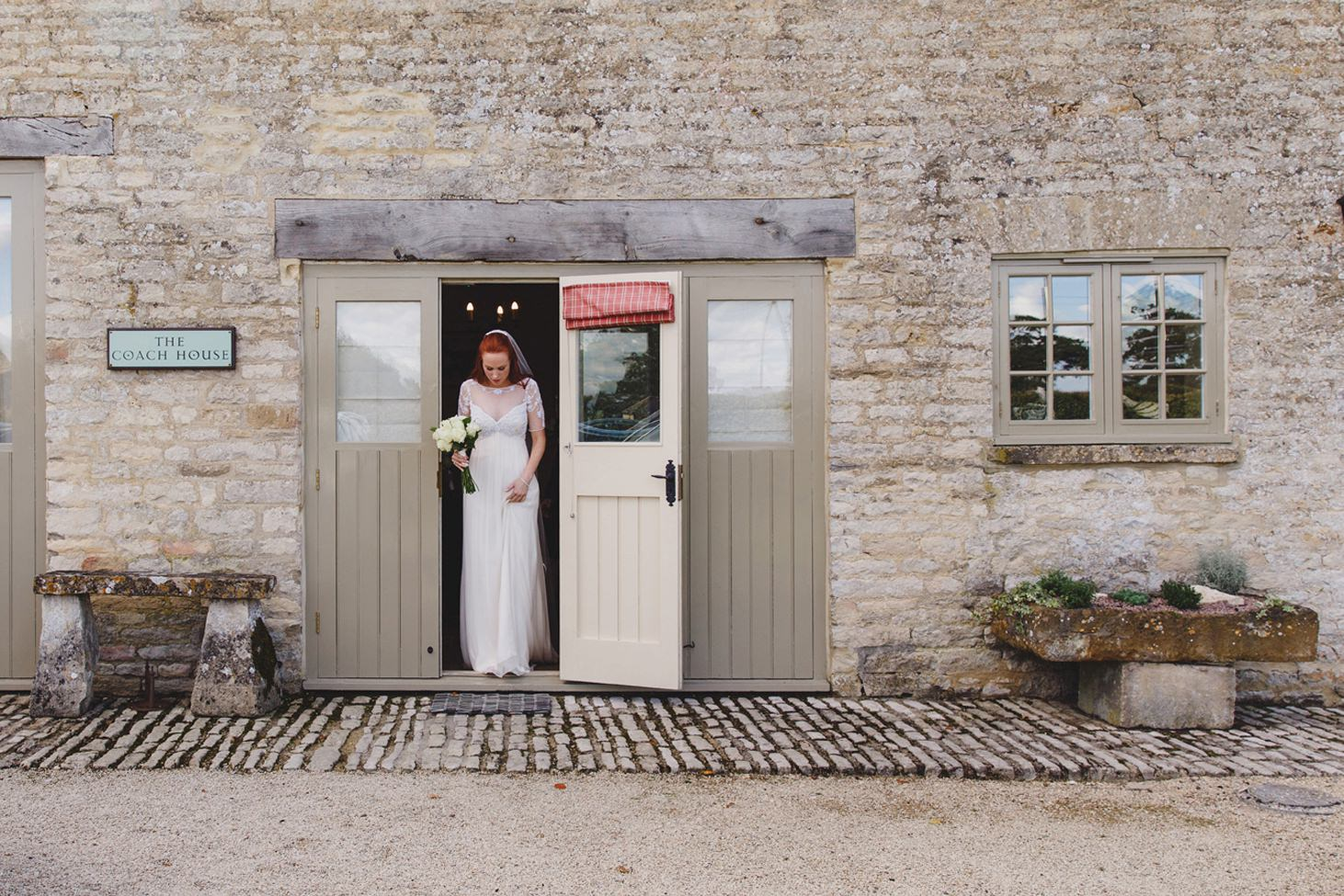 Caswell House wedding photography bride leaving