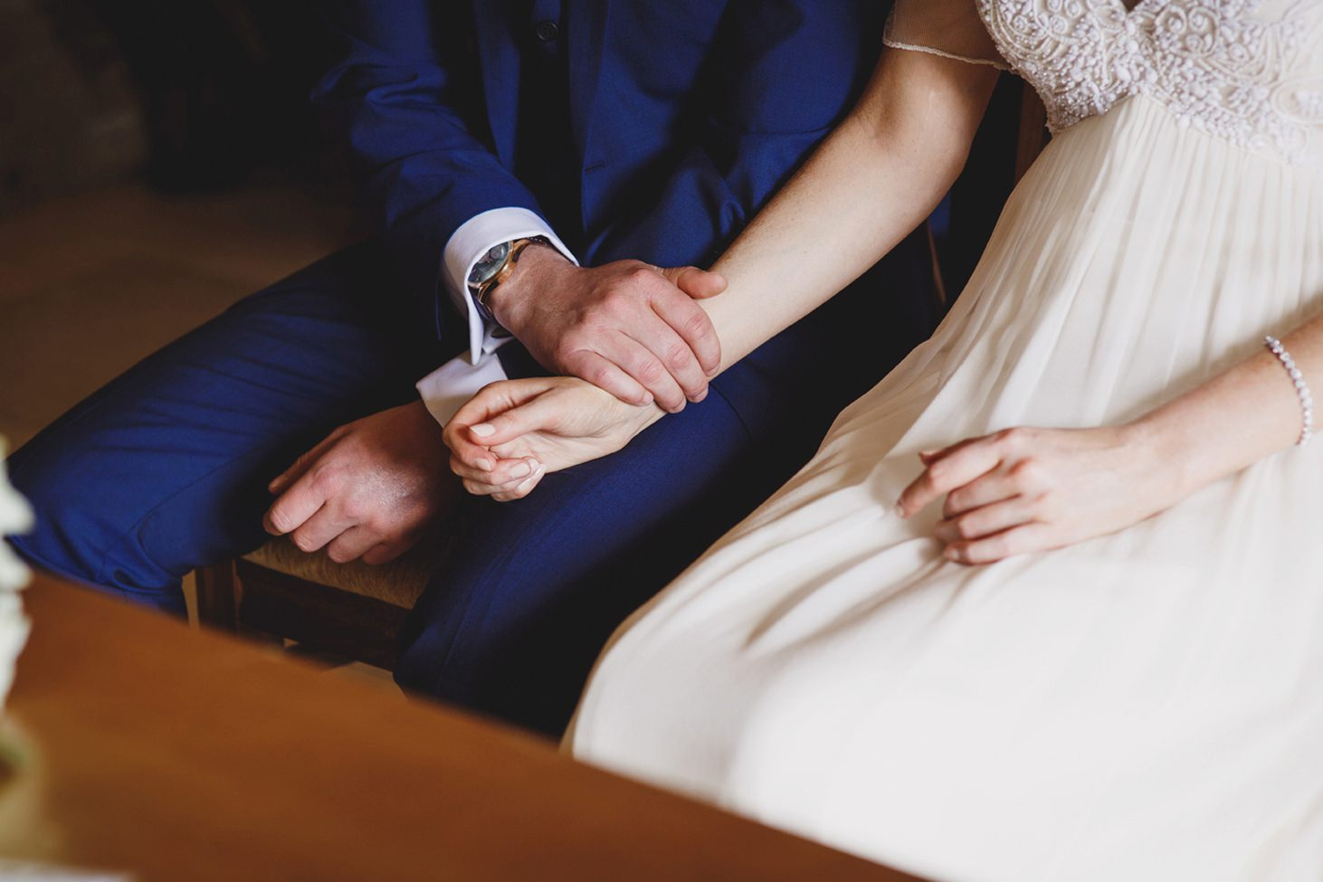 Caswell House wedding photography bride and groom holding hands