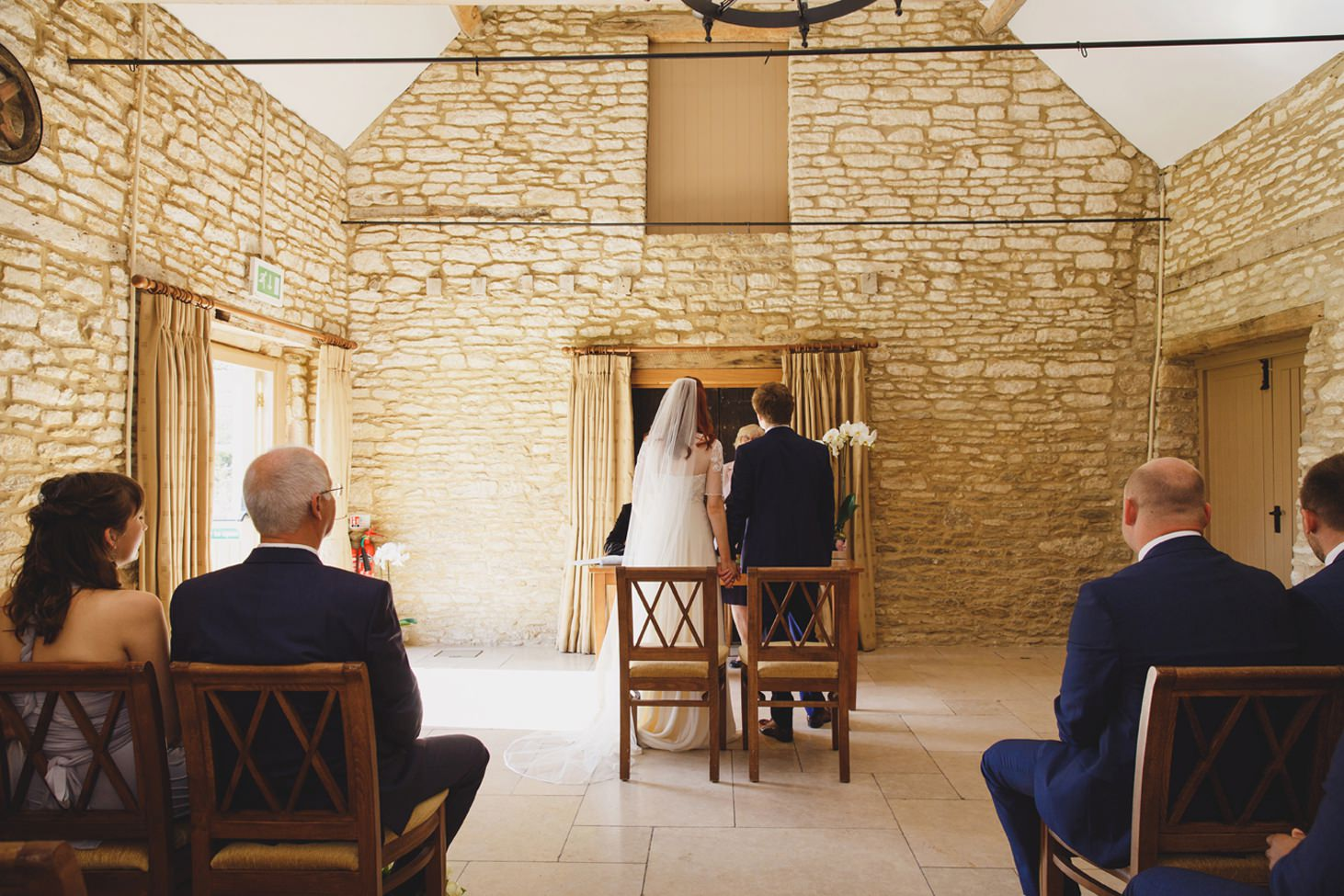 Caswell House wedding photography bride and groom wedding ceremony