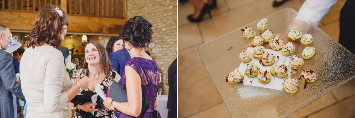 Caswell House wedding photography guests chatting