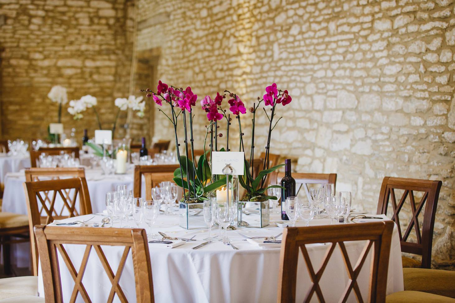 Caswell House wedding photography table flowers