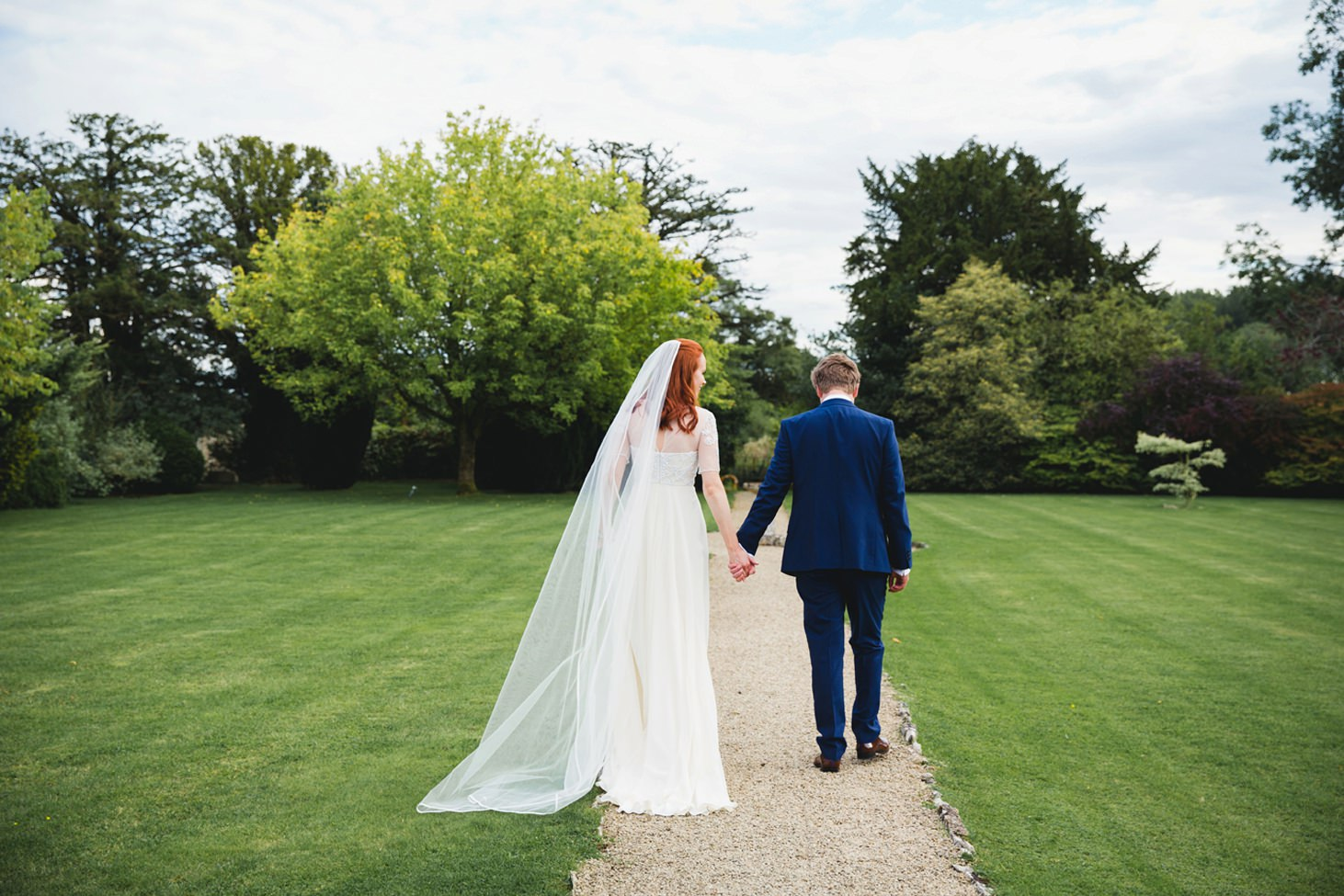 caswell house wedding photography bride and groom walking