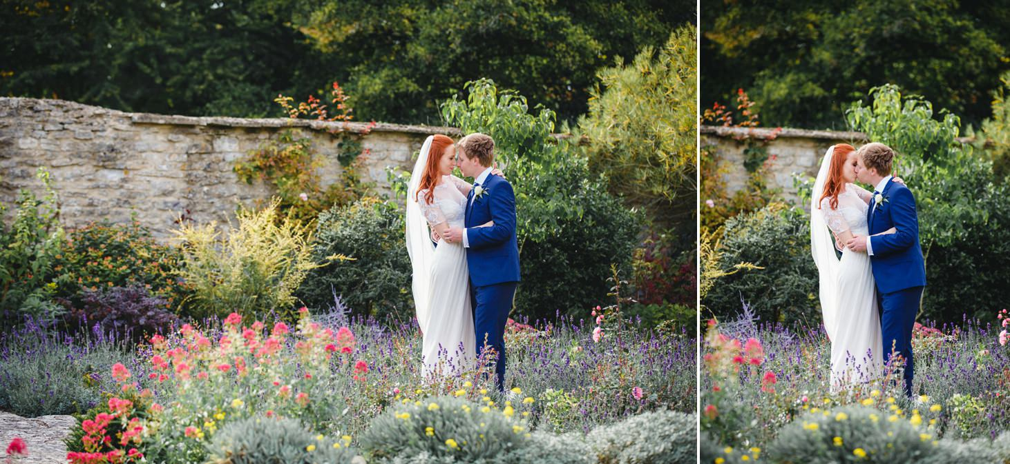caswell house wedding photography wedding couple in gardens