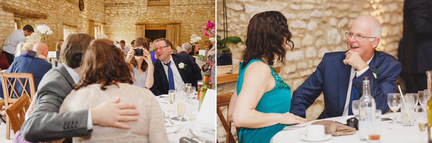 caswell house wedding photography guests at wedding breakfast