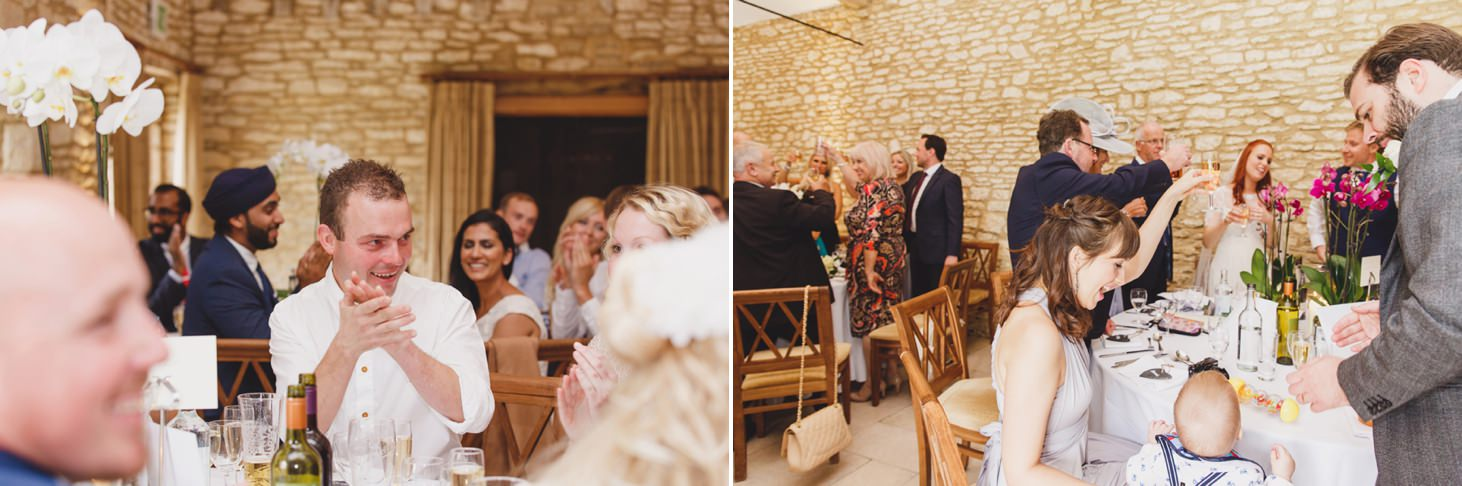 caswell house wedding photography guests cheering