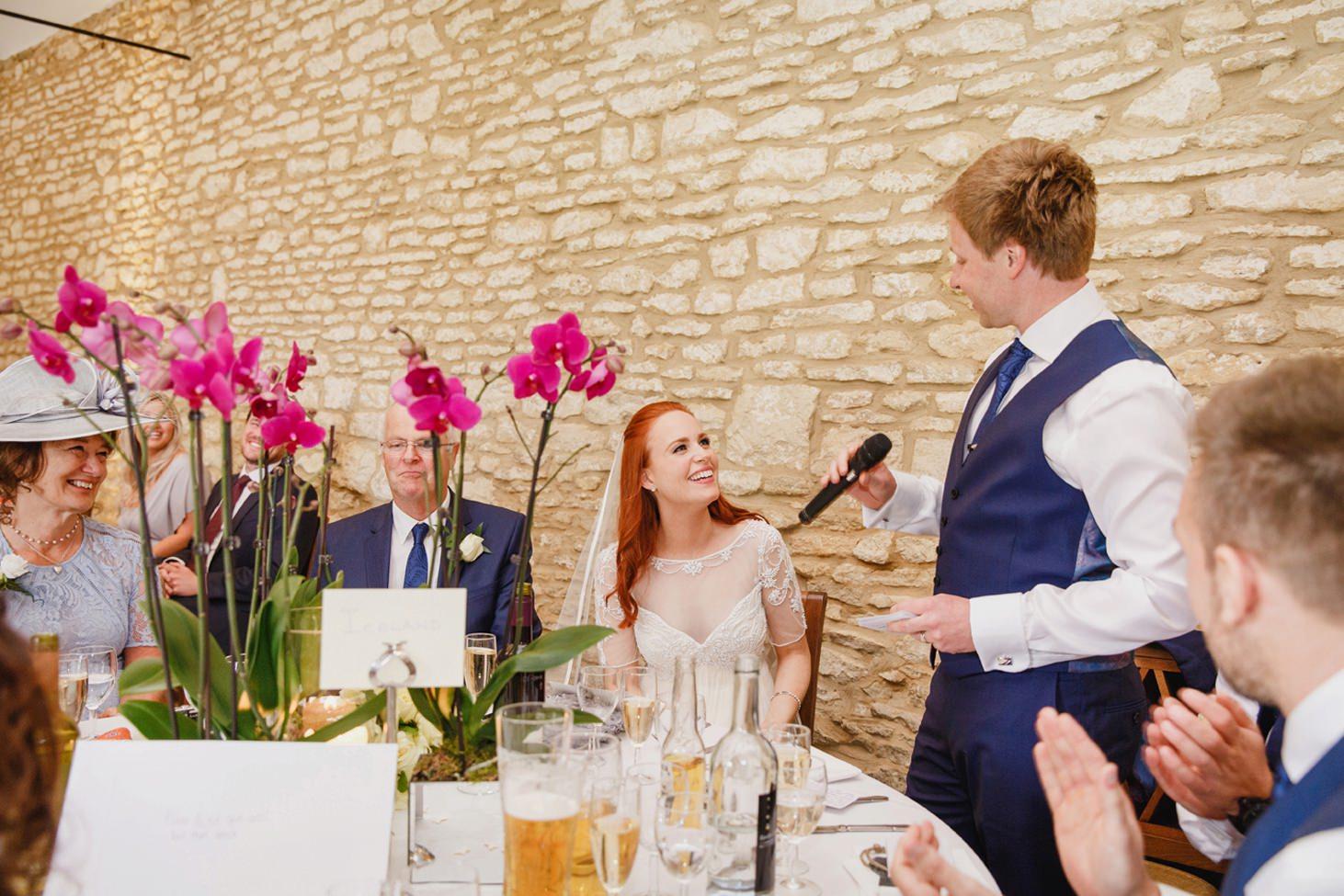 caswell house wedding photography groom speech