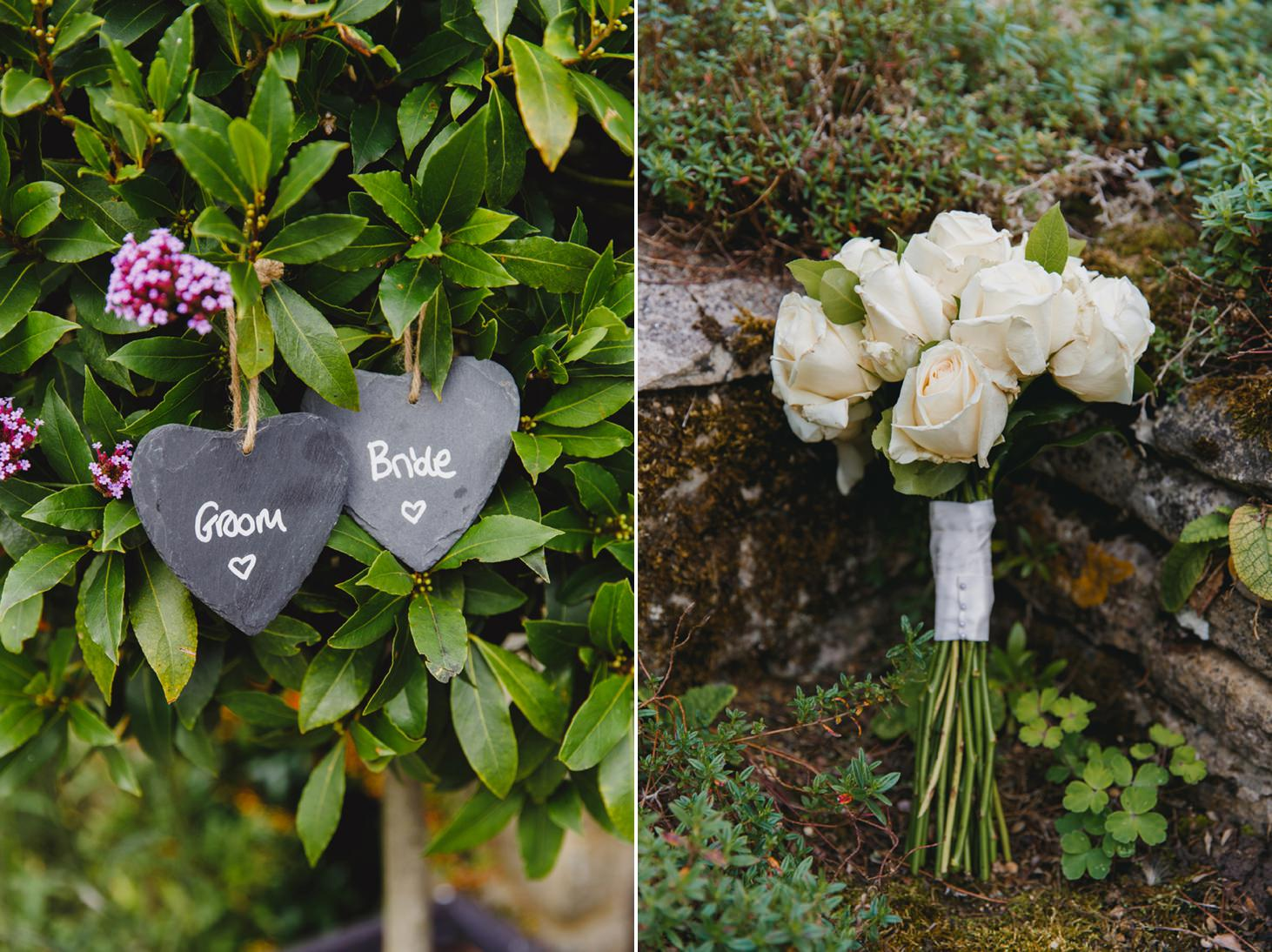 caswell house wedding photography brides bouquet details